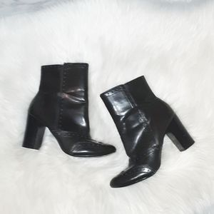 FIONI | Black Oxford Inspired Ankle Boots